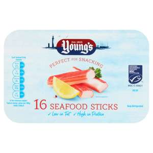 Young's Seafood Sticks 16pk instore at Sainsbury's for 89p