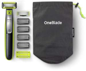 Philips OneBlade Hybrid Body and Face Stubble Trimmer with 4 x Lengths, One Extra Blade and Travel Pouch, £39.99 @ Amazon