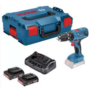 Bosch professional drill with 2 x 2.0ah batteries, charger and case (CNS Powertools) - £95.99