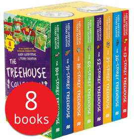 The 13-Storey Treehouse Collection - 8 Books(Collection) - £9.99 + £2.95 Del (possibly £7.50 with code, see description) @ The Book People