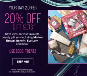 20% off Christmas gift sets @ Lookfantastic - Brands include Benefit, Urban Decay, Origins