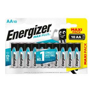 10 Energizer Max Plus Batteries - £4.50 (Instore or +£2 C&C) @ Wilko