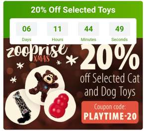 20% Off toys for pets @ zooplus