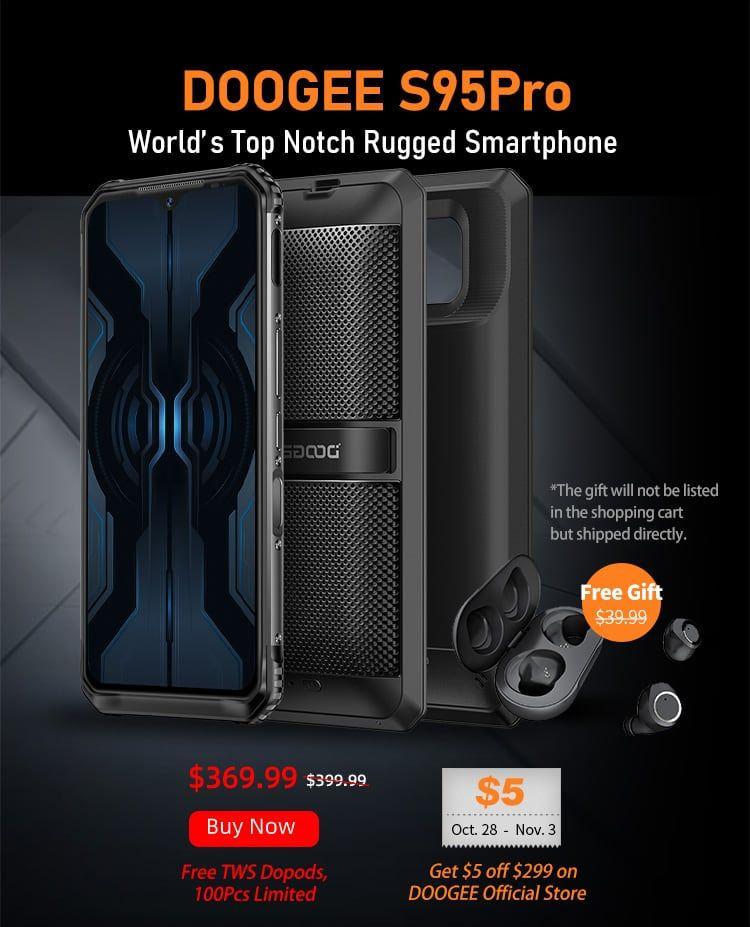 Doogee S95 Pro Modular Smartphone 5150mAh Battery + Free Earphones Dopods £287.26 @ Gearbest