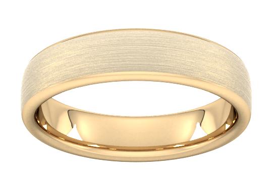 5mm slight court standard matt finished wedding ring in 9 carat yellow gold - ring size p £139.50 @ Goldsmiths