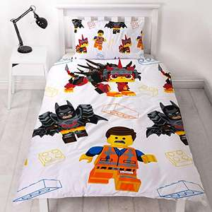 LEGO Movie 2 Single Duvet Cover |Reversible Two Sided Still Awesome Action Design with Matching Pillowcase - £13.99 + £4.49 NP @ Amazon