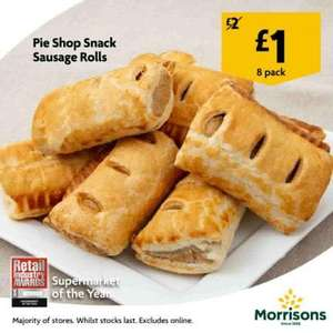 8 Snack Size Oven Fresh Sausage Rolls - £1 - Morrisons