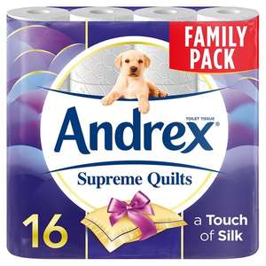 Andrex Quilts Supreme Quilts 16 Rolls £6.50 @ Tesco