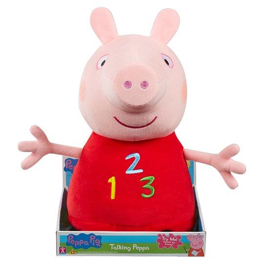 Peppa Pig 123 Talking 14 inch Plush Toy £10 was £20 @ Tesco