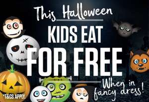 Kids eat FREE this Halloween (SIZZLING PUBS) with purchase of Adult main