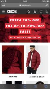 Extra 10% off ASOS sale