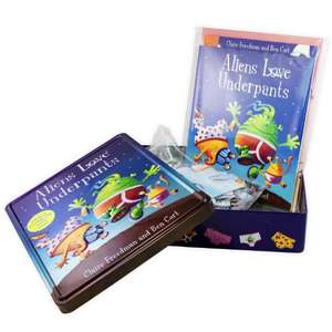 Aliens Love Underpants Anniversary Tin - Book / Colouring Book / Poster / Jigsaw £5.95 Delivered @ Books2door