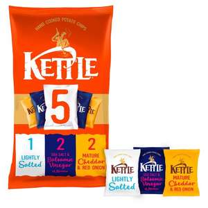 Kettle Variety Crisps 5 Pack 5 Pack X 30G ONLY £1 @ TESCO