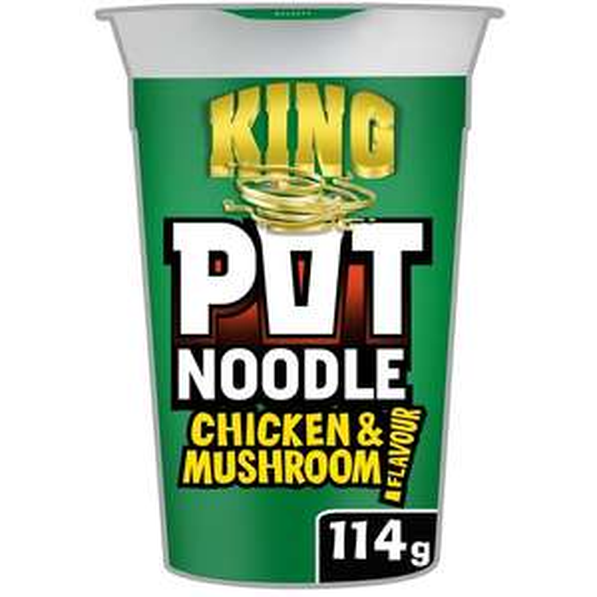 Pot Noodle King 114g (all varieties) £1 @ TESCO