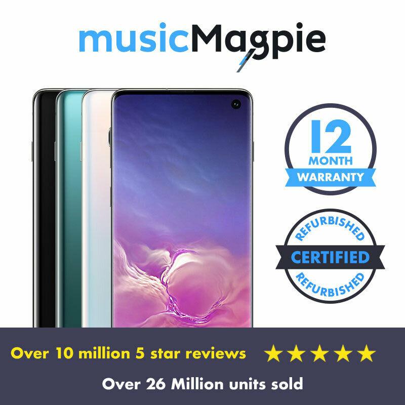 Samsung Galaxy S10 Prism White Refurbished Good Condition Smartphone £399.99 @ Music Magpie Ebay