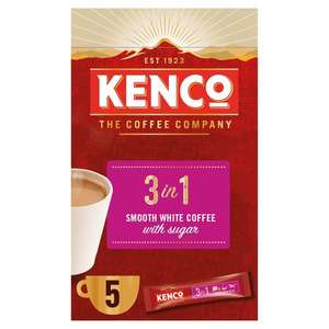 Kenco 3 in 1 Coffee 5 pack for 60p in Tesco from Tomorrow