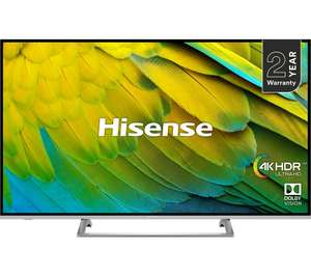 "Hisense H43B7500UK (2019) LED HDR 4K Ultra HD Smart TV, 43"" with Freeview Play, Black/Silver - £271.15 @ Hughes eBay"