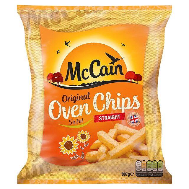McCain Oven Chips, Straight Cut 907g £1.50 @ Sainsbury's