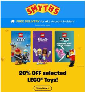 20% off Selected Lego Toys @ Smyths
