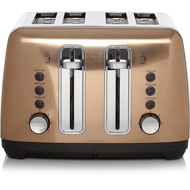 4 Slice Toaster - Grey/copper/cream/black for £20 @ George free c&c