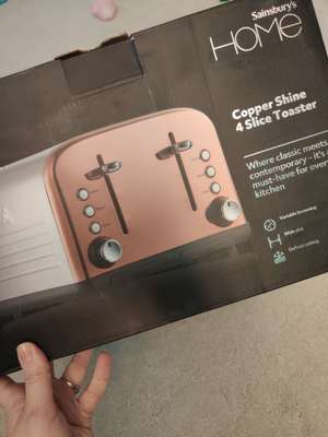Sainsbury's 4 slice Copper Shine Toaster IN STORE ONLY clearance item £14 @ Sainsburys