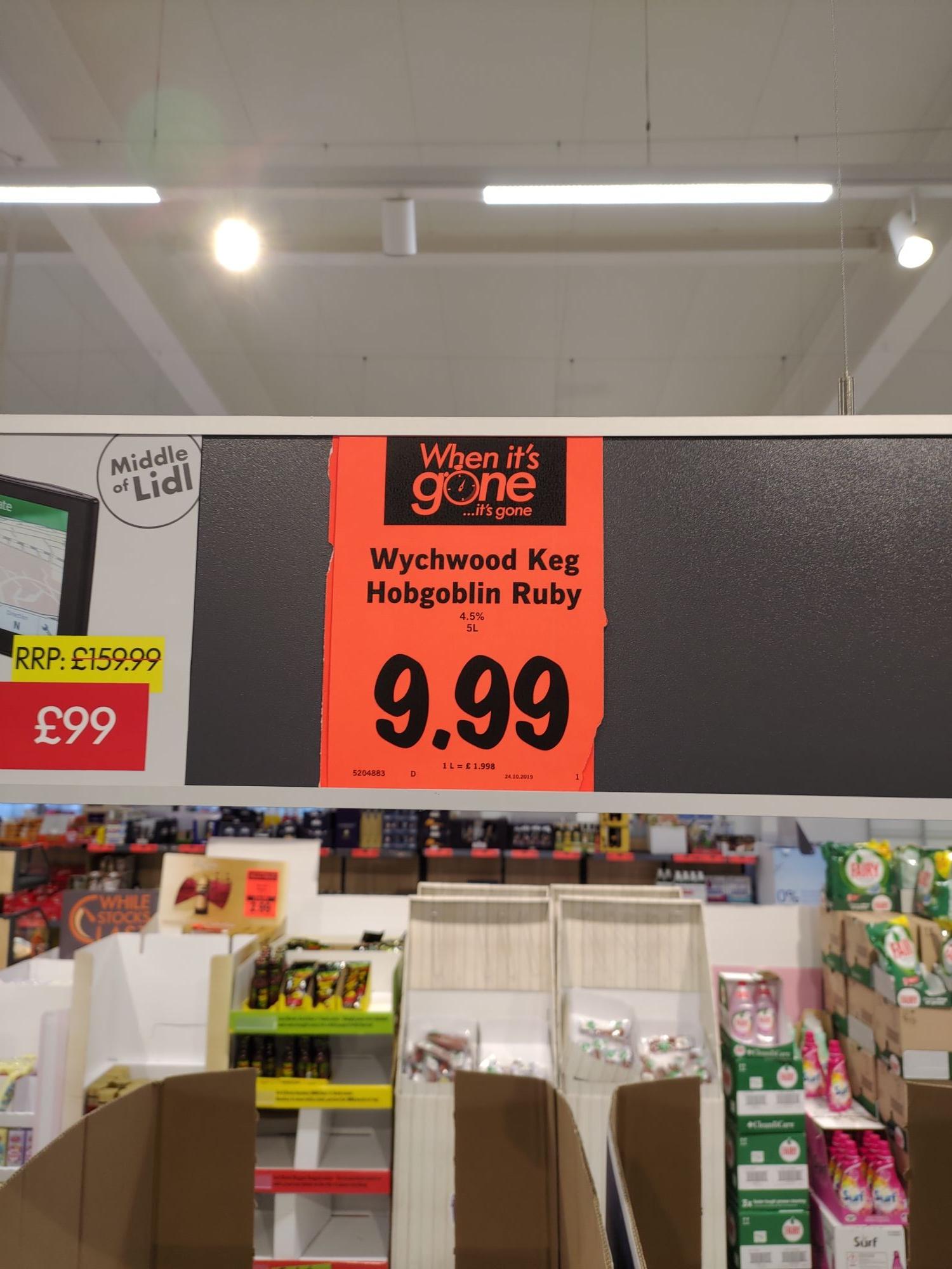 Wychwood Hobgoblin 5 litres for £9.99 in Lidl