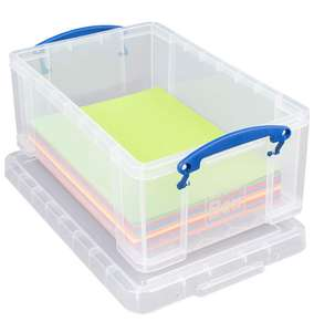 Really Useful 9 Litre Plastic Storage Box - £4 + £4.49 delivery Non Prime @ Amazon