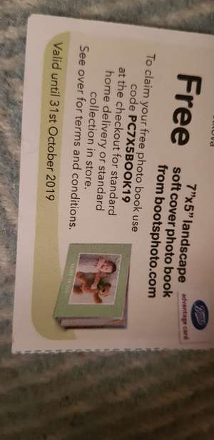 Free 8x6 landscape soft cover photo book , pay only postage £1.99 @ Boots Photo