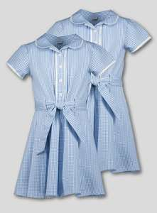 2 pack Gingham Classic School Dresses £3.90 in store only @ Sainsbury's