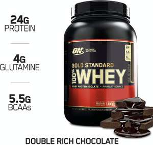 Optimum Nutrition Gold Standard 100% Whey Powder Extreme Chocolate 908g - £22.99 @ Amazon