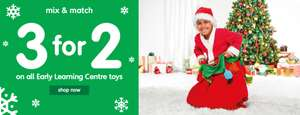 3 for 2 on all ELC Toys at Early Learning Centre - Free Click & Collect Over £10