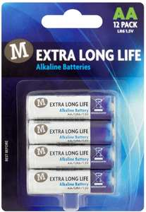 Morrisons AA Battery, 12-Pack - £1.45 with £15 spend for free delivery or £3.99 delivery @ Amazon Pantry