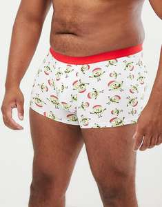 ASOS DESIGN Plus Christmas trunks with monster design 3XL £3 + £3 delivery @ ASOS