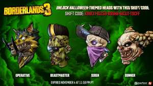 Free Halloween Skins For Borderlands 3