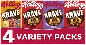 Kellogg's Krave Variety Pack 1p + £3.99 delivery @ Amazon Pantry