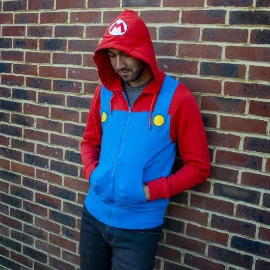 Men's Super Mario Hoodie £12.97 @ MenKind