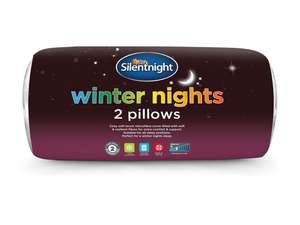 Silentnight Winter Nights Hollowfibre Pillow Pair+ 2 YRS Warranty £6.99 @ Lidl