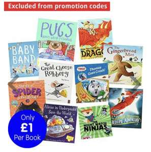 Bedtime Books Bundle at The Works - £10 (Free Collection)