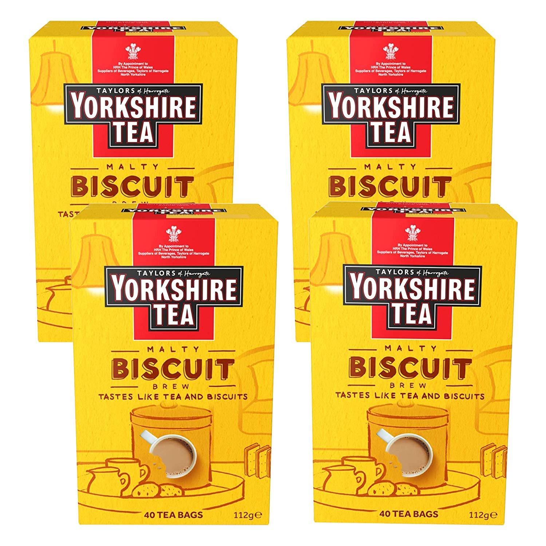 Yorkshire Tea Biscuit Brew Tea Bags x4 (160 tea bags) - £6 prime / £10.49 non prime @ Amazon