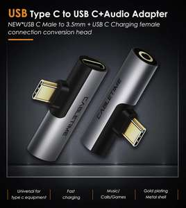 Cabletime 2 in 1 USB Type C / 3.5mm audio jack converter adapter for £1.89 delivered @ AliExpress / Lancom cable Store