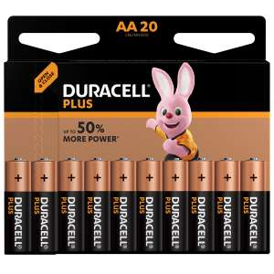 Duracell Plus Power AA/AAA Batteries - 20 Pack £9.99 @ Robert Dyas + Click and Collect