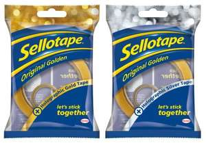Sellotape 50m With 5m Gold or Silver Roll for £1 @ Tesco (+Freebie Links)