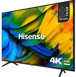"Hisense H50B7100UK (2019) LED HDR 4K Ultra HD Smart TV, 50"" with Freeview Play, Black/Silver+ 5 Year Warranty - £299 @ John Lewis & Partners"