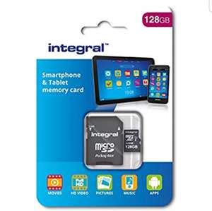 Integral 128 GB microSDXC Class 10 Memory Card for Smartphones and Tablets, Up to 80 MB/s, U1 Rating £12.99@ Amazon Prime / £17.04 NP