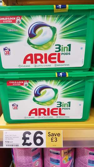 Ariel 3 in 1 pods 38 pack £6 @ Tesco Cardiff Pengam Green