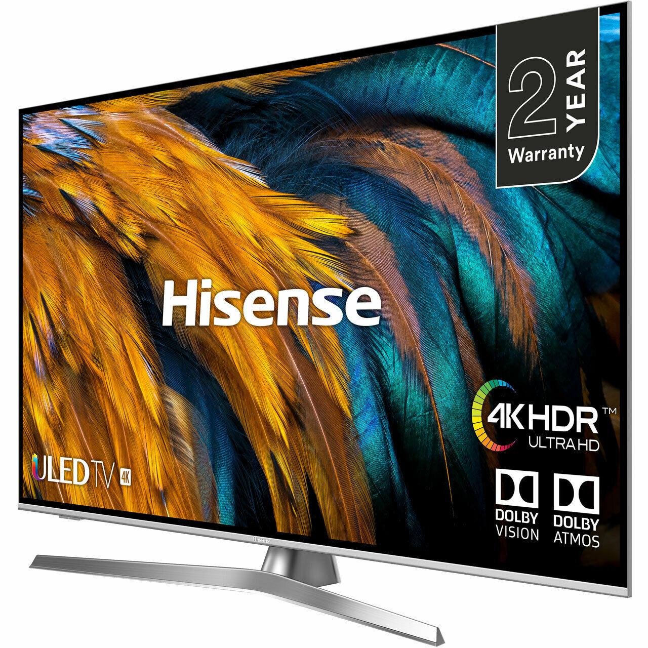 Hisense H55U7BUK U7B 55 Inch TV Smart 4K Ultra HD LED Freeview HD 4 HDMI Dolby £449.10 @ AO ebay (10% off at checkout)