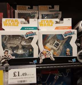Star Wars Micro Force Vehicle Pack £1.49 instore Home Bargains South Shields