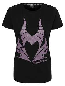 Disney Evil Queen Slogan T-Shirt or Disney Maleficent Purple Glitter T-Shirt for £4 @ George (Free click+collect)