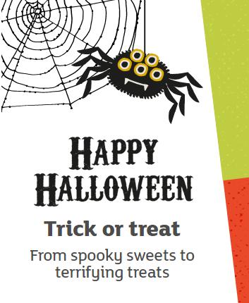 Halloween items from £1 @ Sainsbury's