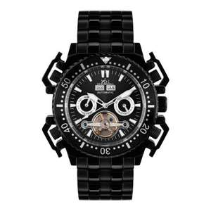Hindenberg Men's Challenge II Black Stainless Steel automatic Watch £122 delivered @ Brand Alley